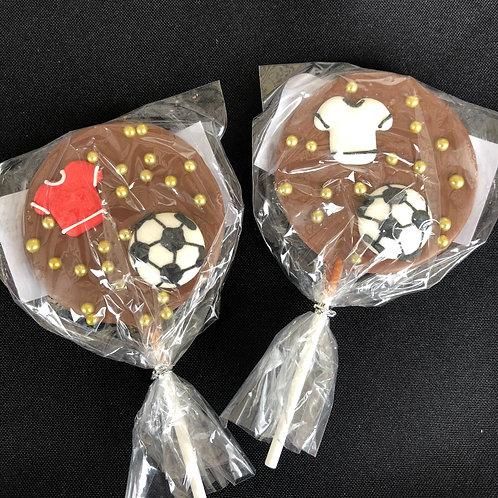 Football Belgian Chocolate Lollies