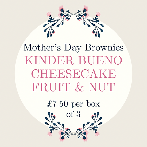 Mother's Day Brownies - 3 Pack