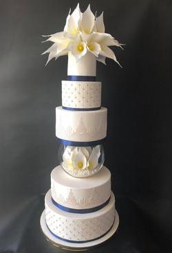 Royal Blue Lilly Cake