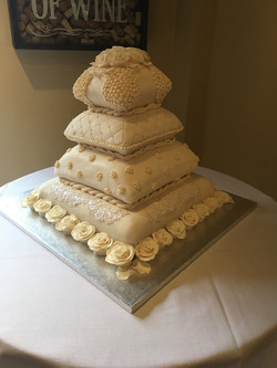 4 Tier Pillow Cake