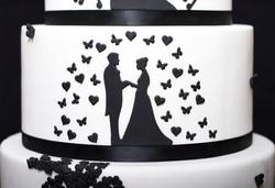 Black Silhouette Cake