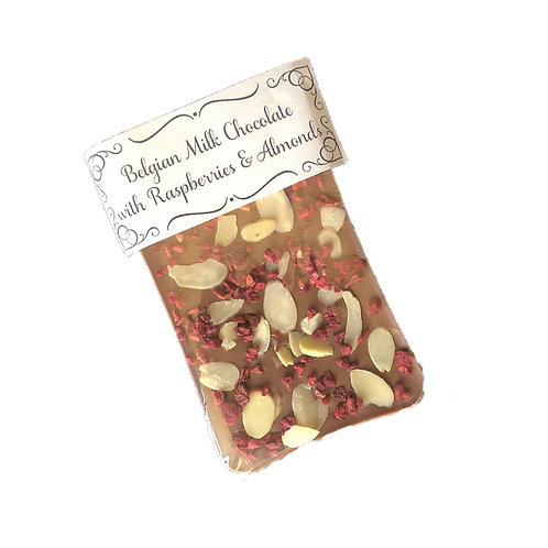 Raspberry & Almond Belgian Chocolate Bar