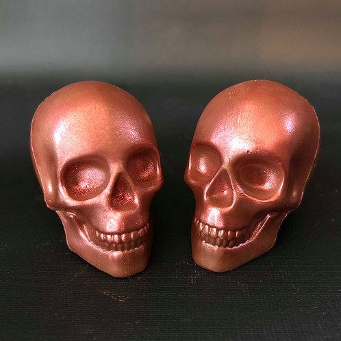 Pink Belgian Chocolate 3-D Skulls