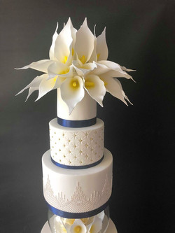 Royal Blue Lilly Cake