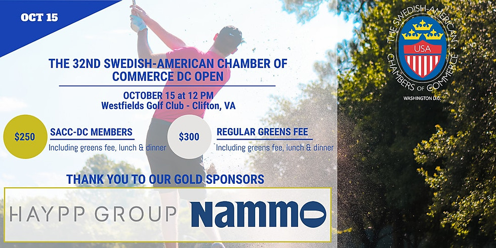 Swedish-American Chamber of Commerce Presents: 32nd SACC DC Open