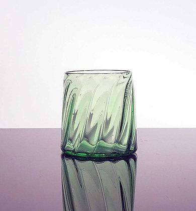 Green Striped Glass