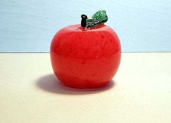 Glass Red Delicious Apple