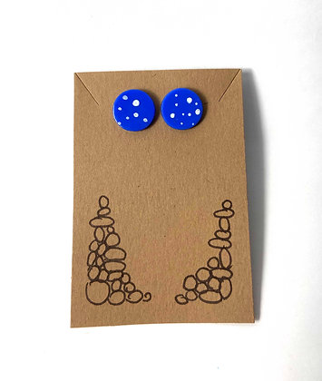 Spots on Dots (Blue and White)