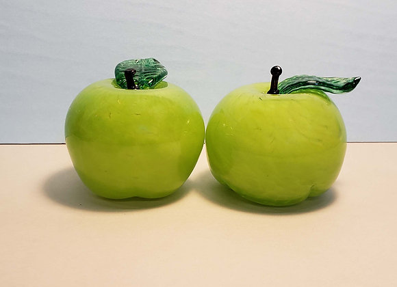 Glass Granny Smith Apple
