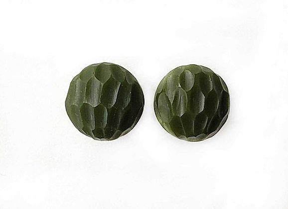 Opaque Olive Green Battuto