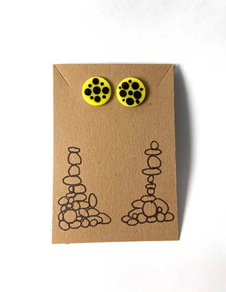 Blots on Dots (Yellow and Black)