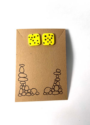 Spots on Squares (Yellow and Black)