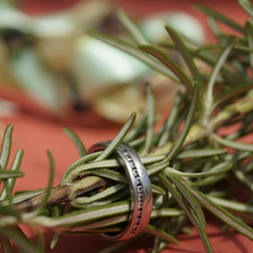 Rosemary (for rememeberance) in a ring warming ritual.