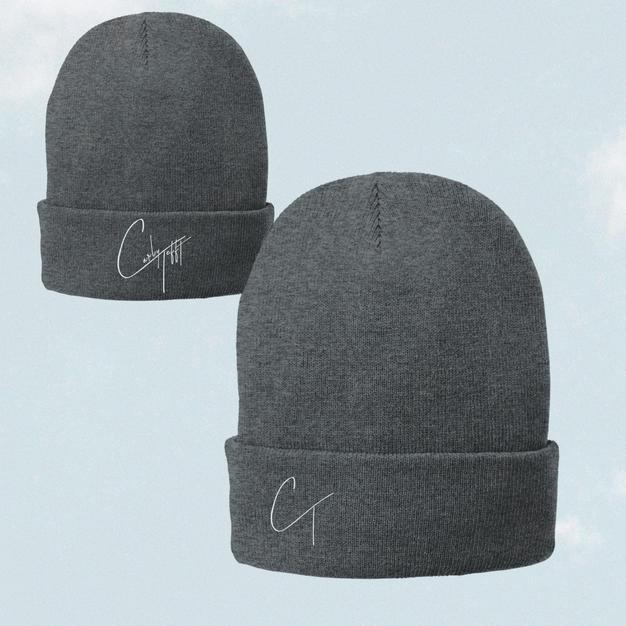 Unisex Grey Beanie W/ CT Logo $30.00 + S&H