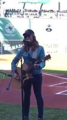 Red Sox National Anthem at Fenway Park
