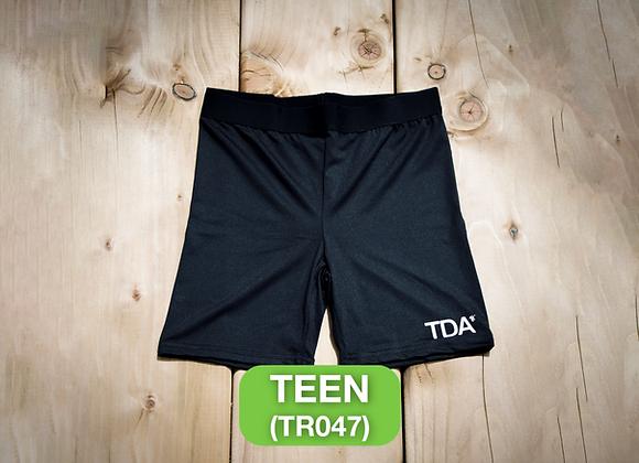 Black Cycle Shorts - Teen (TR047)