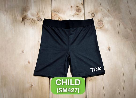 Black Cycle Shorts - Child (SM427)