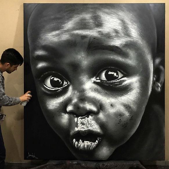 Cuadro Niño África