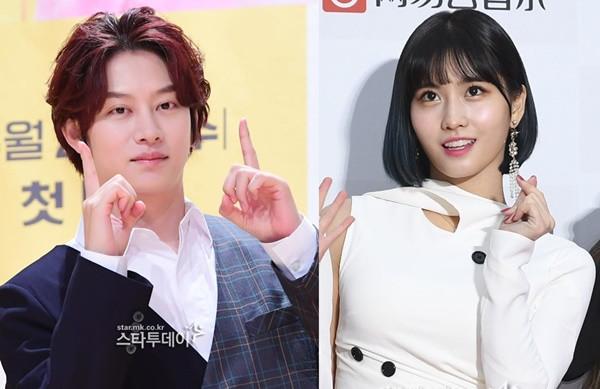 슈주 김희처 트와이스 모모 열애