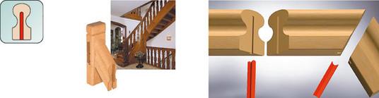 União de peças madeira