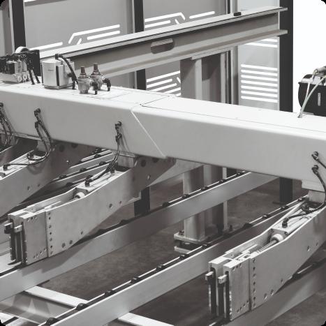 Oito pinças garantem melhor desempenho e segurança na hora do corte.