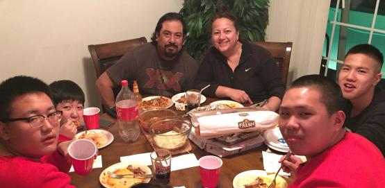 Host Family Dinner Homestay