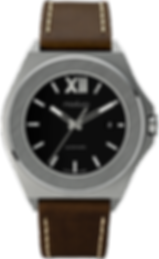 305A-01_All Steel_Black Dial_Espresso St