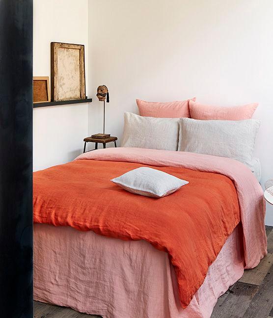 Chambre Bohème en Orange + Pink Millennial