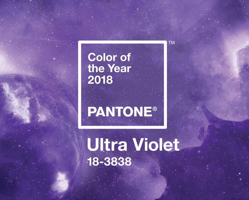 Color of the year 2018 Pantone Ultra Violet
