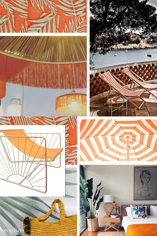 Ambiance French Riviera décoration intérieur orange