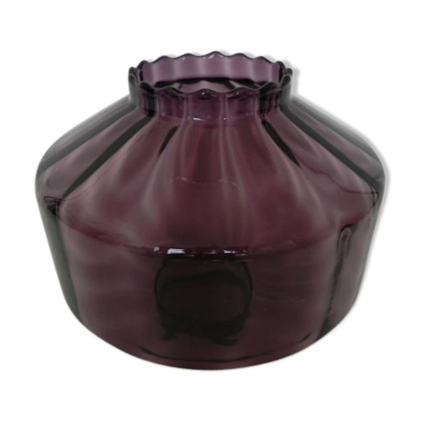 Vase violet Art Déco Doyen original
