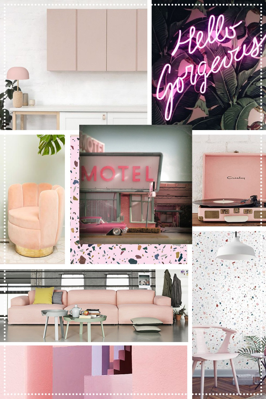 Planche d'ambiance Pink Millennial