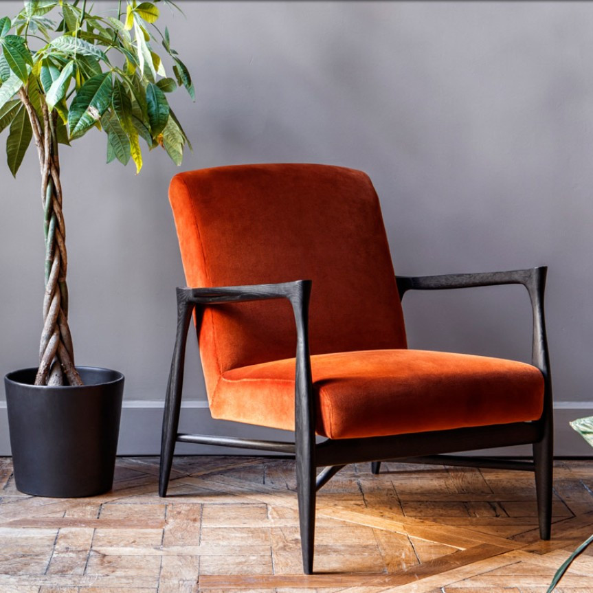 Fauteuil 50's Red Edition Orange