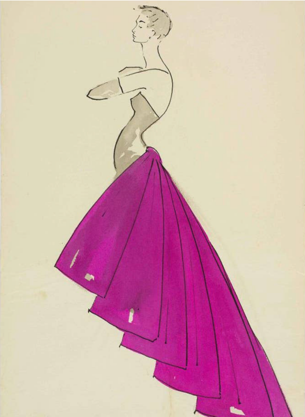 Elsa Schiaparelli Shocking Pink dress