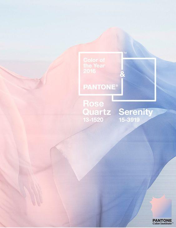 Rose quartz et Bleu Serenity