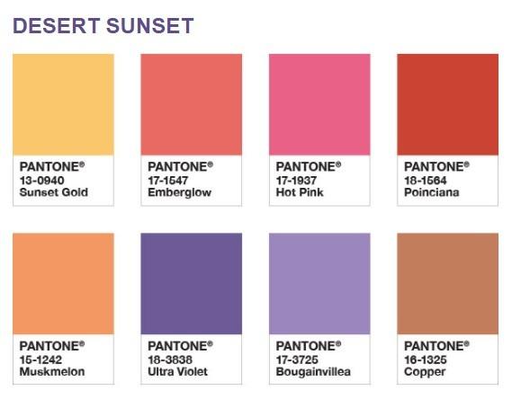 Palette Desert sunset