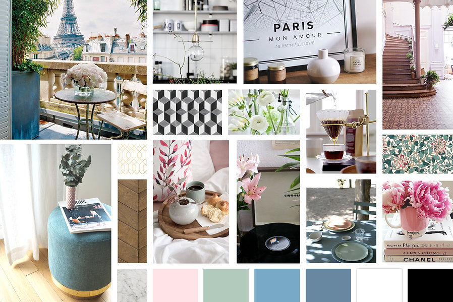 Ambiance déco Spring Time in Paris, Frenchic, frais, chic, élégant, féminin, fleuri, art, artisanat