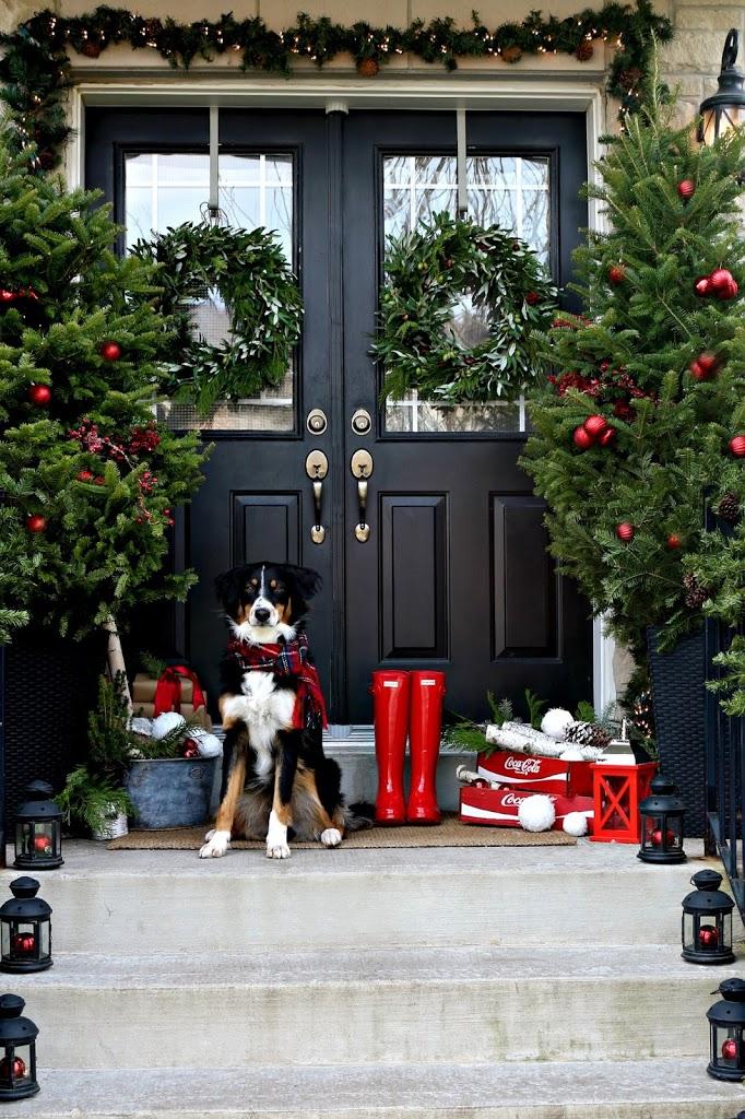 Porche aux couleurs de Noël