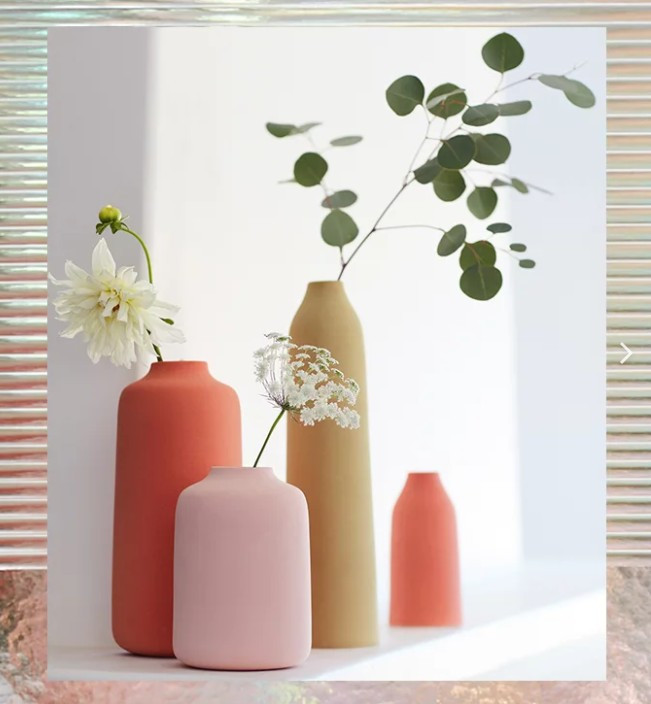 Vases Colorado en Pink Millennial et Orange chez ANTHROPOLOGIE