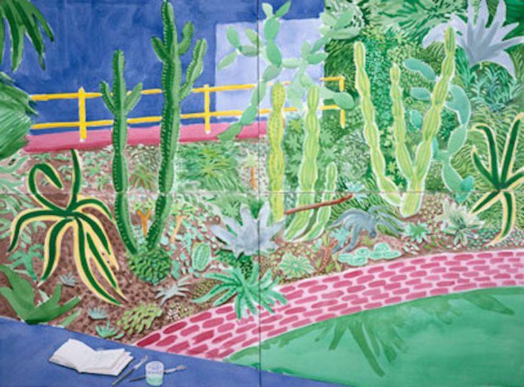 Watercolor David Hockney