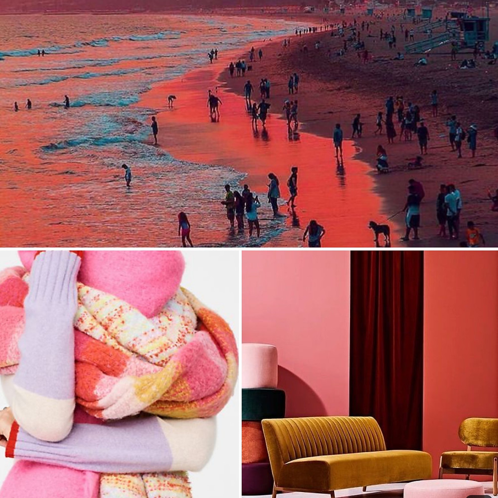 Pink and Orange color palette