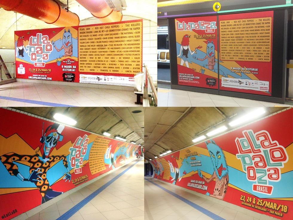 Subway campaign Lollapalooza Brasil 2018