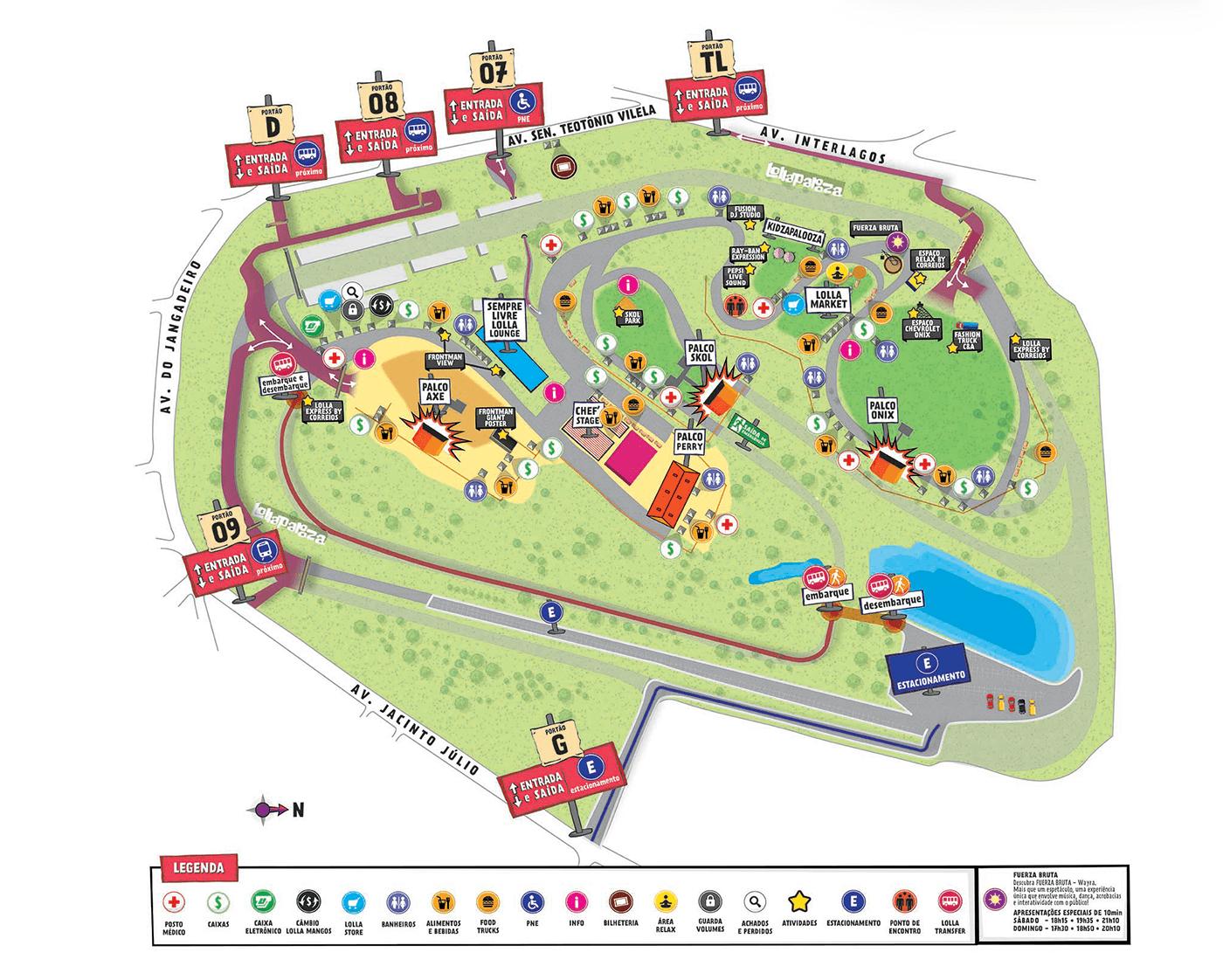 map lollapalooza 2015