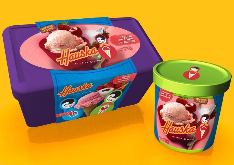Hauska Sorvete Gourmet packaging