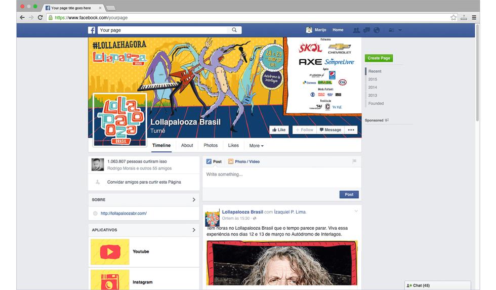 Lollapalooza Brasil Social Media