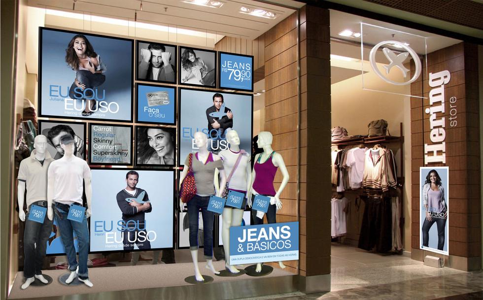 Vitrine Hering Jeans e Básicos