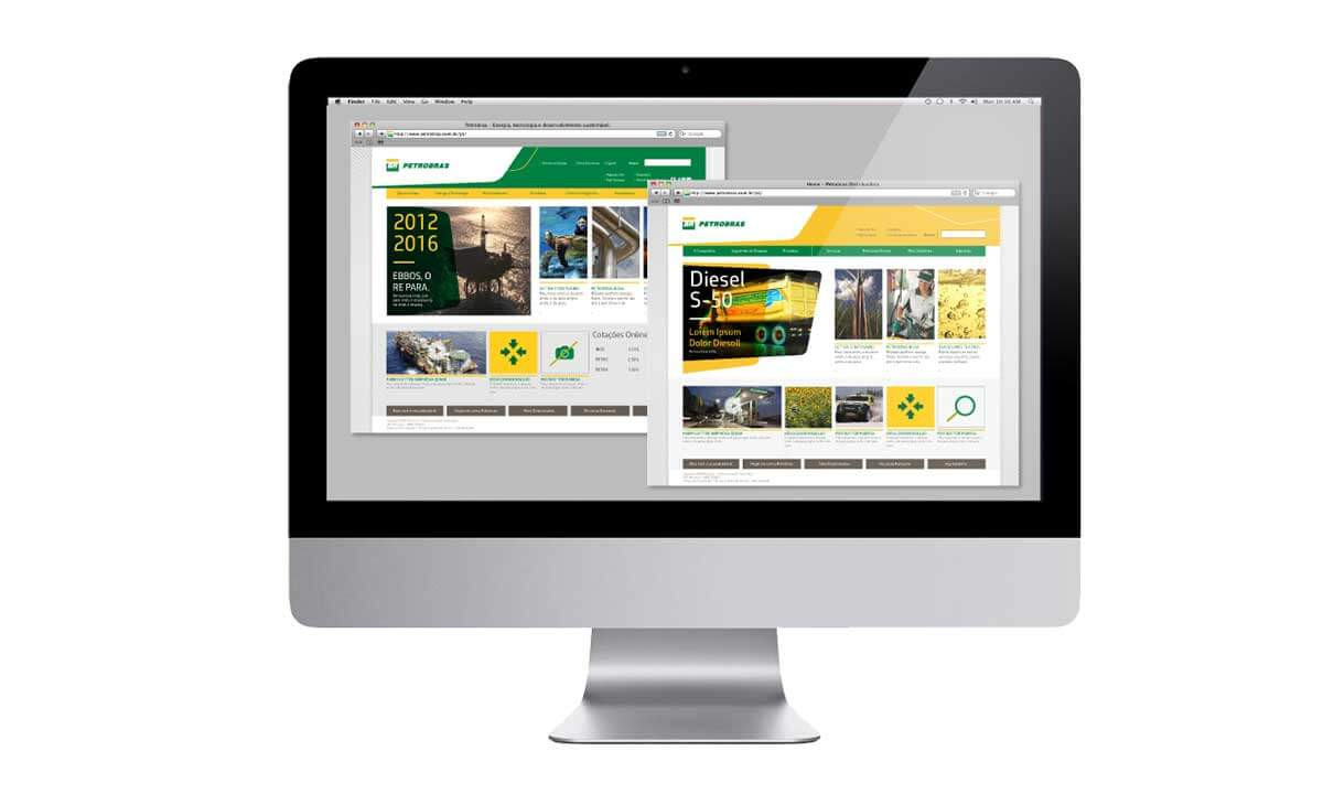 UX websites Petrobras