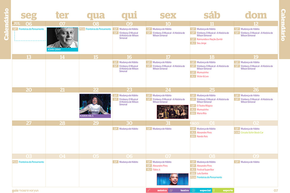 Calendar Tickets for Fun