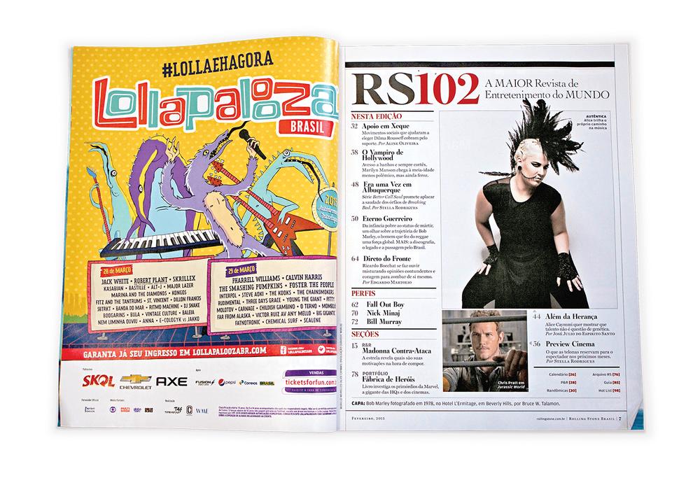 Ad Lollapalooza Brasil Lineup