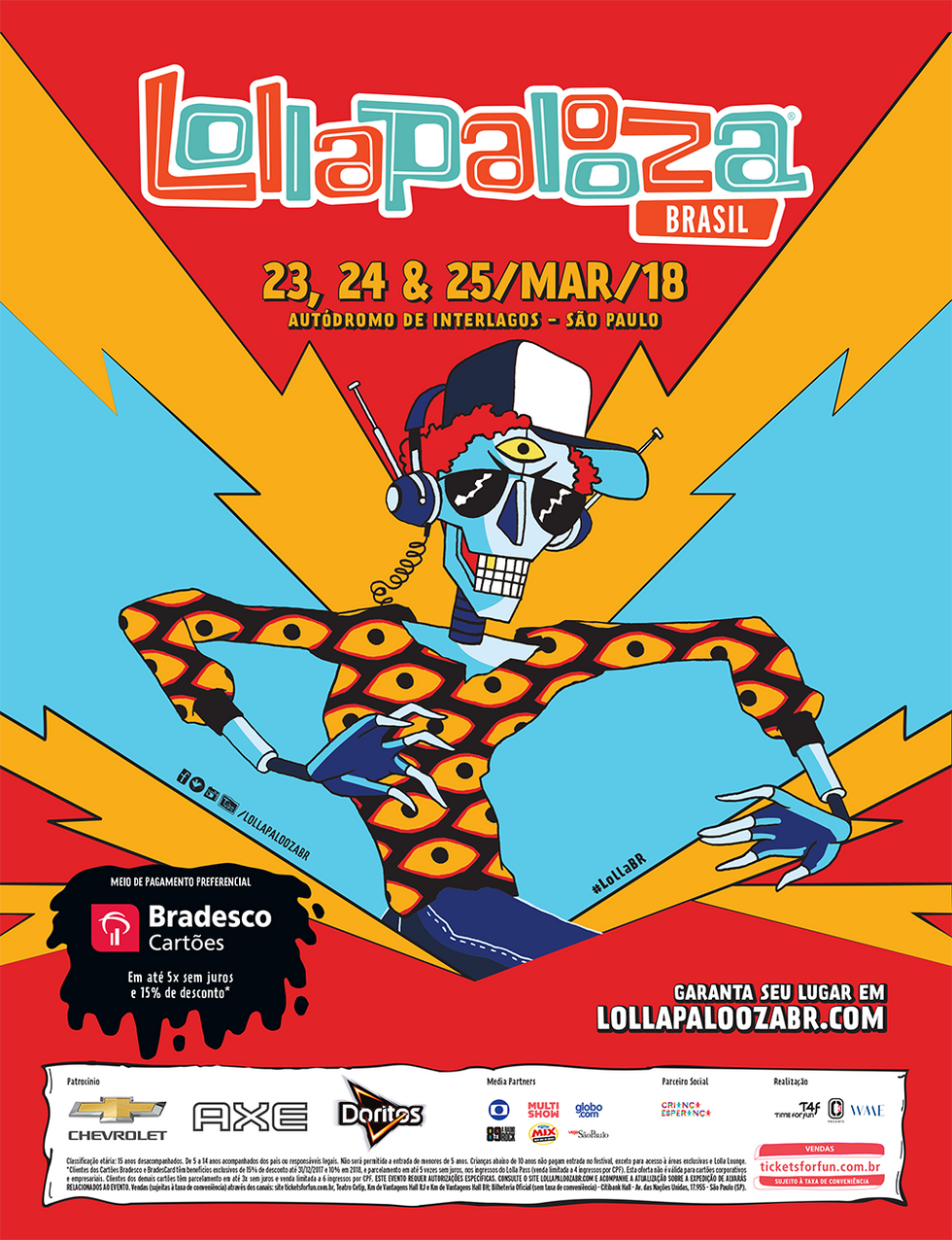 Lollapalooza Brasil Poster 2018